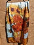 V Gogh zonnenbloem sjaal