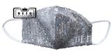 Mondkapje Glitter zilver/grijs_