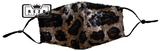 Mondkapje Glitter panter goud/zwart_