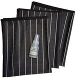 GG ) Bamboe Glas doeken per 3 stuks (zwart) + kleine bamboe concentraat_