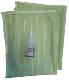 G ) Bamboe Glasdoeken 2x + tester concentraat (groen)_
