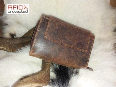 Dames Portemonnee RFID Protection van Buffelleder Type 4