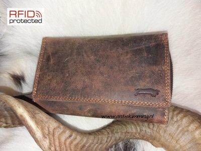 Dames Portemonnee RFID Protection van Buffelleder Type 3
