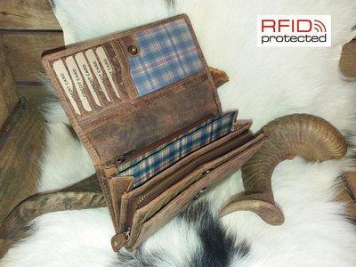 Dames Portemonnee RFID Protection van Buffelleder Type 1