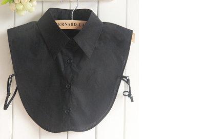 Losse blouse kraag zwart katoen