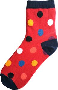 Bolletjes socks diverse kleuren