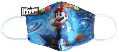 Mondkapje kind Mario space