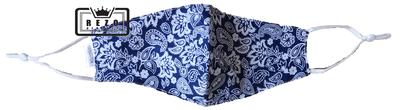 Mondkapje Paisley blauw