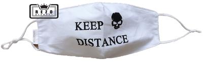 Mondkapje Keep distance wit