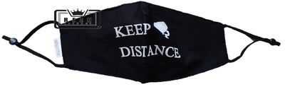 Mondkapje Keep distance zwart