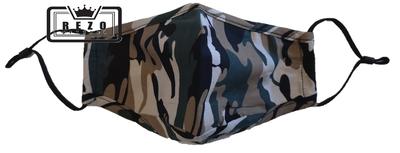Mondkapje 3Laags met neusklem legergroen licht