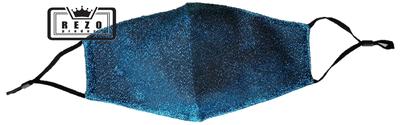 Mondkapje Glitterstof blauw