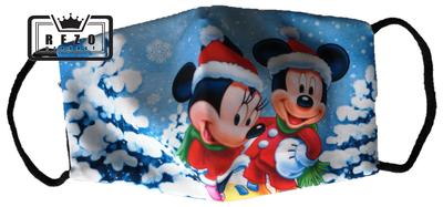 Mondkapje Kind Mickey en minnie sneeuw