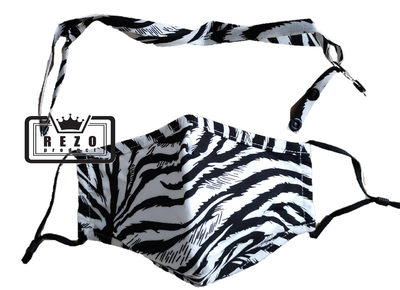 Mondkapje 3Laags met neusklem zebra + band