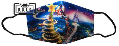Mondkapje Kind Kerstboom swirl