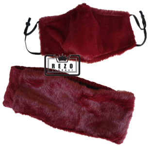12) Teddy Haarband winterset Bordeaux