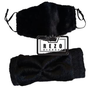 13) Teddy Haarband winterset Bordeaux