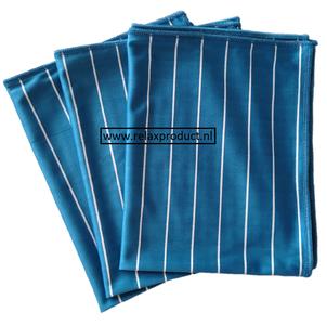 GG ) Bamboe Glas doeken per 3 stuks (blauw)