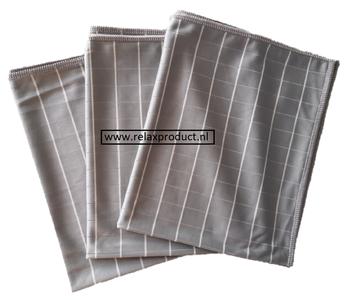 GG ) Bamboe Glas doeken per 3 stuks (grijs)