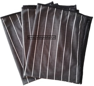 GG ) Bamboe Glas doeken per 3 stuks (zwart)