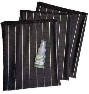 GG ) Bamboe Glas doeken per 3 stuks (zwart) + kleine bamboe concentraat