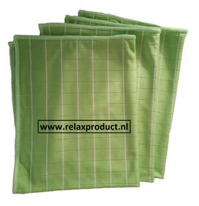 GG ) Bamboe Glas doeken per 3 stuks (groen)