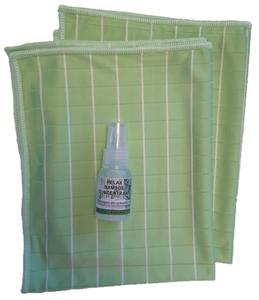 G ) Bamboe Glasdoeken 2x + tester concentraat (groen)