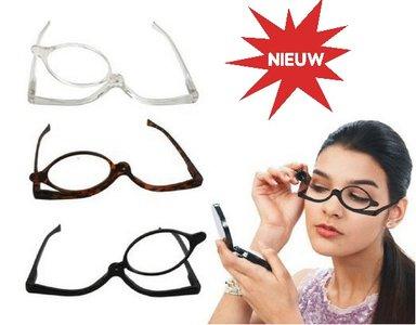leesbril om op te maken